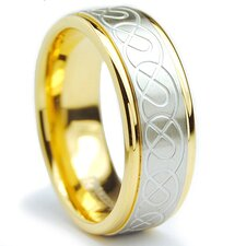 Stainless Steel Celtic Comfort Fit Wedding Band