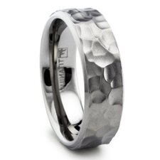 <strong>Bonndorf Laboratories</strong> Titanium Hammered Comfort Fit Wedding Band