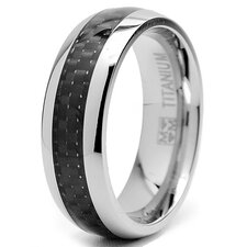 Titanium Carbon Fiber Inlay Wedding Band