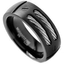 Men's Titanium Screw Comfort Fit Wedding Band