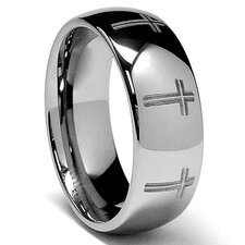 Tungsten Comfort Fit Dome Ring