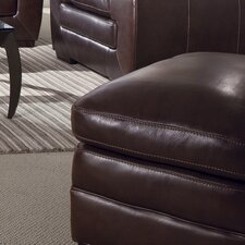 Biscayne Leather Ottoman