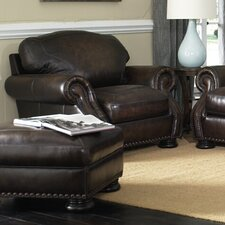 Carlton Leather Armchair and Ottoman