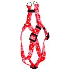 Red Snowflakes Step-In Harness