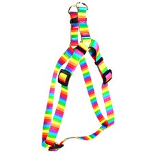 <strong>Yellow Dog Design</strong> Rainbow Stripes Step-In Harness