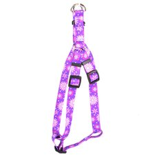 Purple Flowers Step-In Harness