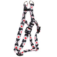 Black Daisy Step-In Harness