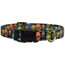 <strong>Yellow Dog Design</strong> Neon Skulls Standard Collar