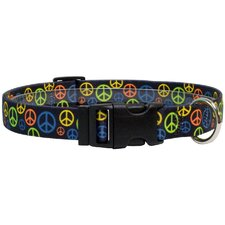 <strong>Yellow Dog Design</strong> Neon Peace Signs Standard Collar