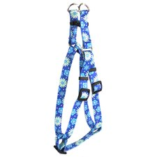 Teal Flowers Step-In Harness