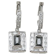Emerald Cut Sapphire Fashion Hoop Earrings