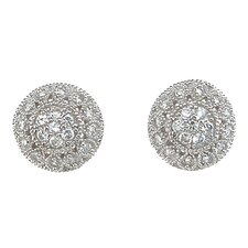 Cubic Zirconium Stud Earrings