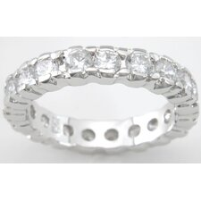 <strong>Plutus Partners</strong> .925 Sterling Silver Brilliant Cut Cubic Zirconia Fashion Band
