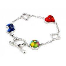 Millefiori Glass Link Bracelet