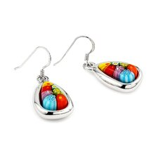 Millefiori Glass Drop Earrings