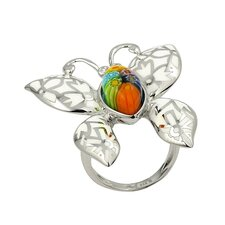 Millefiori Butterfly Glass Ring