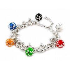 Designo 6 Dangling Ball Accents Charm Bracelet
