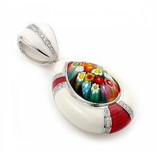 Sterling Silver Murano Glass Drop Pendant