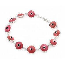 Glass Eye Link Bracelet