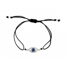 Eye Cubic Zirconia Cord Bracelet