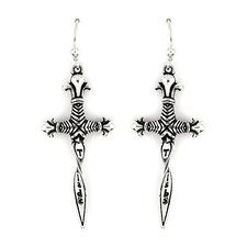 Twisted Blade Dagger Drop Earrings
