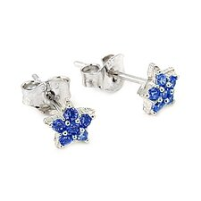 Star Pave Cubic Zirconia Stud Earrings