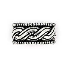 <strong>Plutus Partners</strong> Twisted Blade Silver Woven Band Ring
