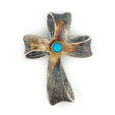 Signature Sterling Silver Accents Cross Pendant