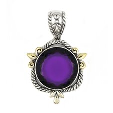 Signature Authentico Sterling Silver Amethyst Semi Precious Pendant