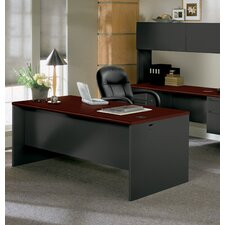 "<strong>HON</strong> 438000 Series 72"" W Double Pedestal Executive Desk"