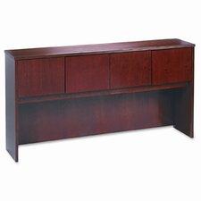 Wood Veneer Desk Hutch