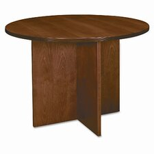 "<strong>HON</strong> Basyx Bw Veneer Series Round Conference Table Top, 42"" Diameter"