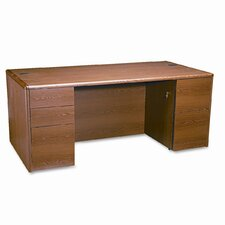 10700 Double Pedestal Desk with Full-Height Pedestals