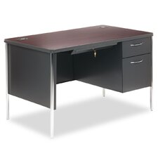 Mentor Series Computer Desk with Single Pedestal Desk