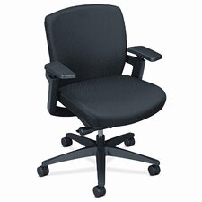 F3 Series Low-Back Work Chair, Black Upholstery
