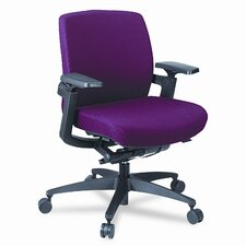 F3 Series Low-Back Work Chair, Wine Upholstery