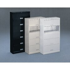 600 Series 5 Shelf Open Letter File With Receding Doors