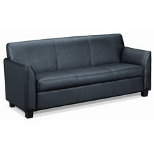 <strong>HON</strong> Basyx Tailored Leather Reception 3-Cushion Sofa