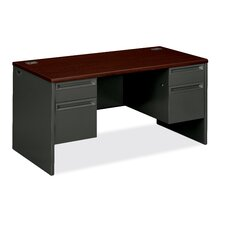 "38000 Series 60"" W Double Pedestal Executive Desk"