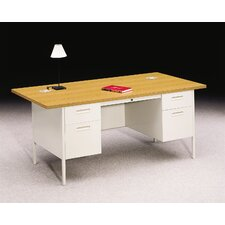 "<strong>HON</strong> Metro Classic 72"" W Double Pedestal Office Desk"