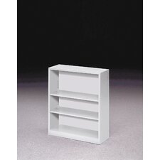"41"" H Three Shelf Steel Bookcase"