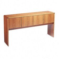 "<strong>HON</strong> 10600 Four-Door Storage Hutch, 72"" Credenza, 68-5/8w x 4-5/8d x 37-1/8h, Med Oak"