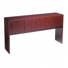 "10600 Four-Door Hutch for 72"" Credenza, 68-5/8w x 4-5/8d x 37-1/8h, Mahogany"