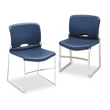 Olson Stacker Chair, Navy, Four/Carton