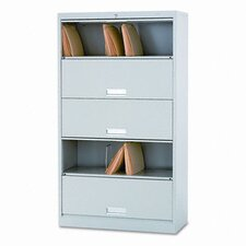 600 Series 5-Shelf Steel Receding Door File, Legal