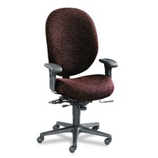 Unanimous High-Performance High-Back Executive Chair, Burgundy Fabric