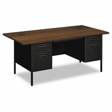 Metro Classic Series Computer Desk with Double Pedestal