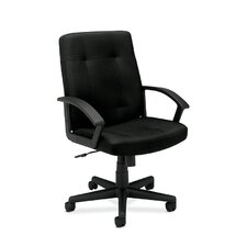 <strong>HON</strong> HVL602 Mid-Black Executive Chair