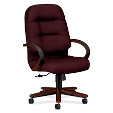 <strong>HON</strong> 2190 Pillow-Soft Wood Series Executive High-Back Chair