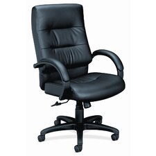 <strong>HON</strong> Basyx Vl690 Series Executive High-Back Leather Chair